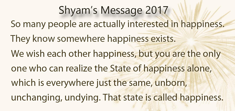 shyam s new year s message 2017 meditative awareness